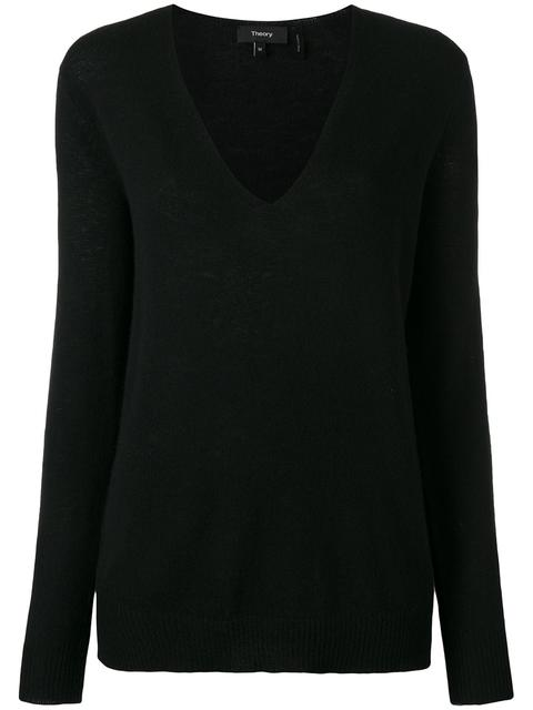 Theory Adrianna Cashmere Sweater In Black