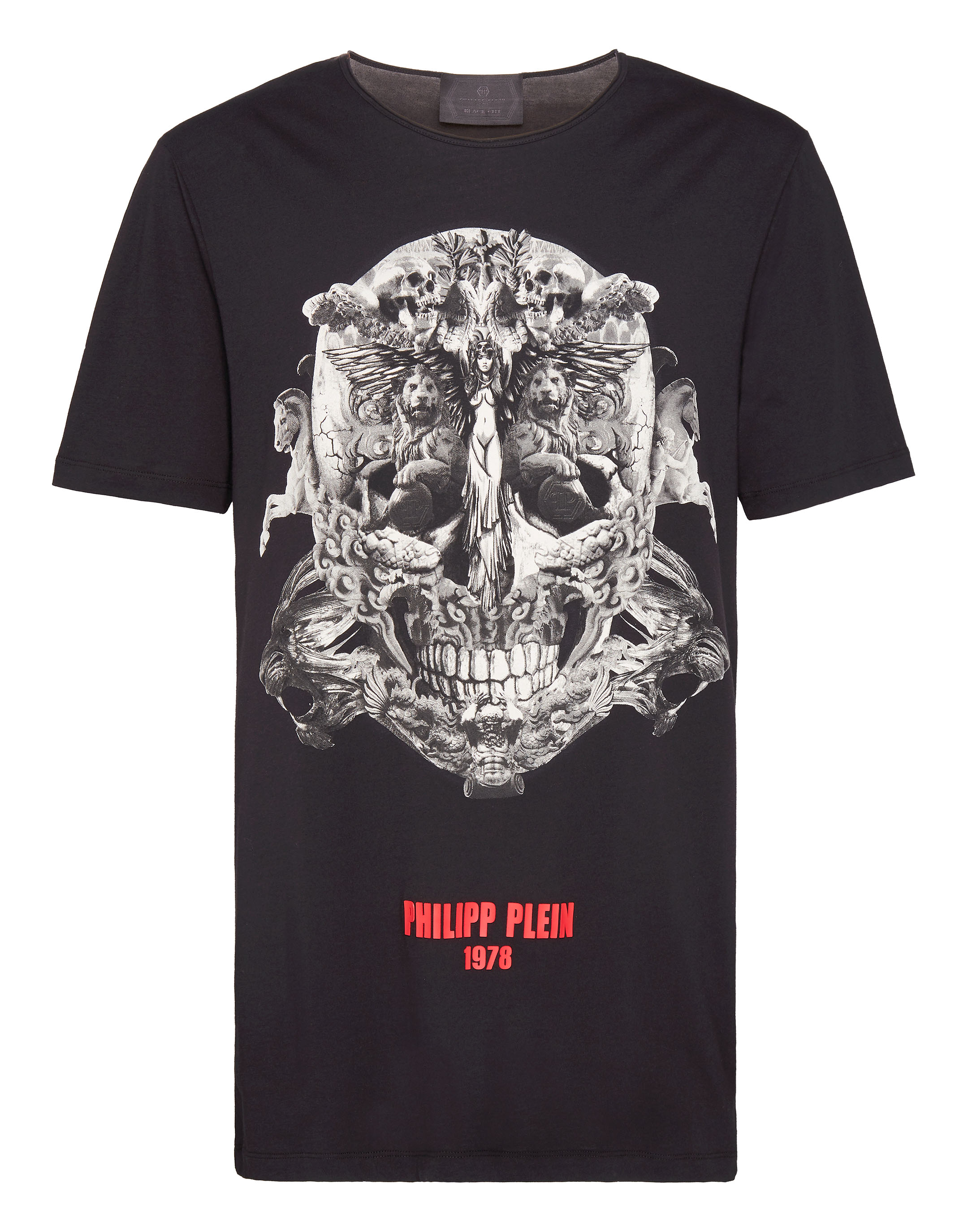 f69f4d45b35f Philipp Plein T-Shirt Black Cut Round Neck Sculptures | ModeSens