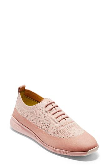 4531ff4447 Cole Haan 2 Zerogrand Stitchlite Oxford Sneaker In Misty Rose/ Peach Blush  Fabric