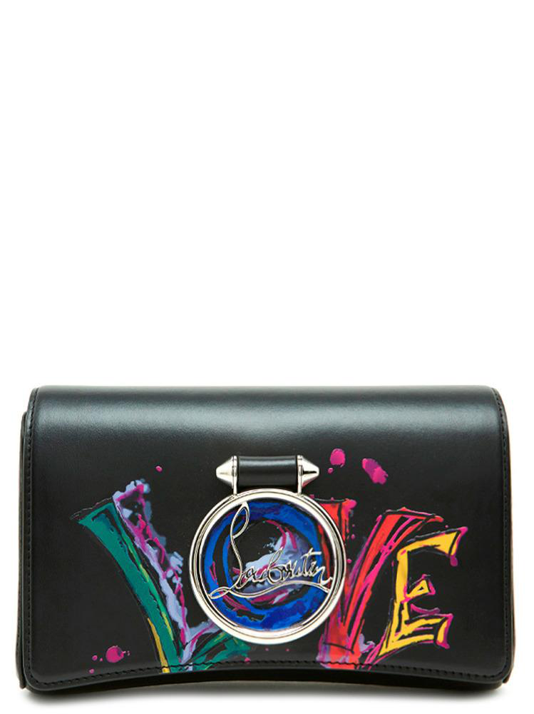 607c620d7ac Christian Louboutin Rubylou Leather Clutch Bag In Black | ModeSens