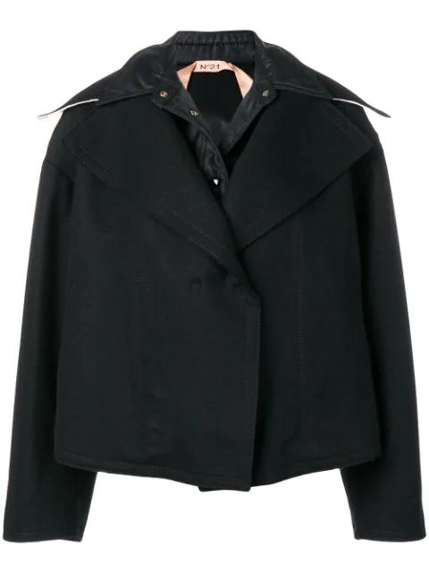 N°21 Oversized Short Jacket In Black