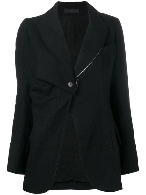 Marc Le Bihan Single Button Blazer - Black