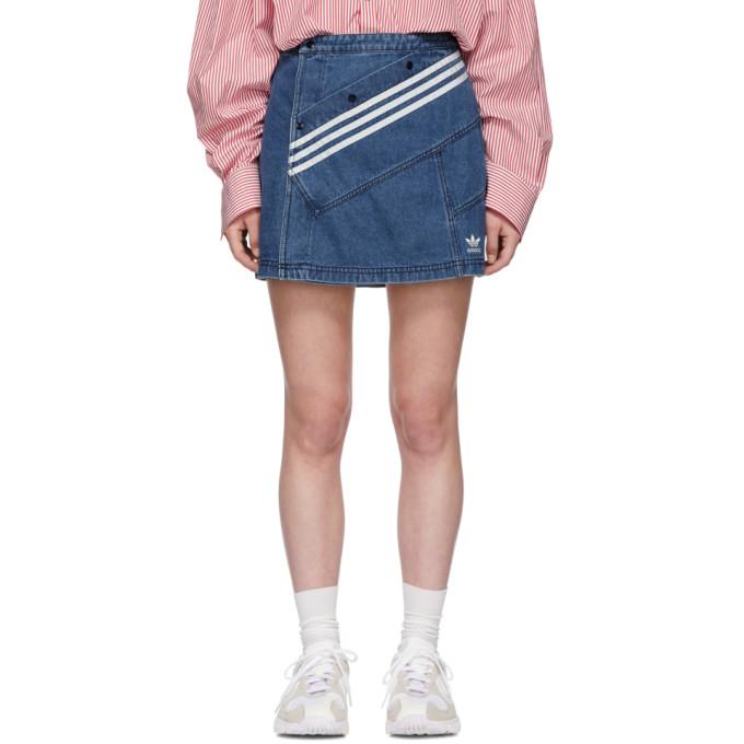 6e4595c596 Adidas Originals By Danielle Cathari Blue Denim Miniskirt