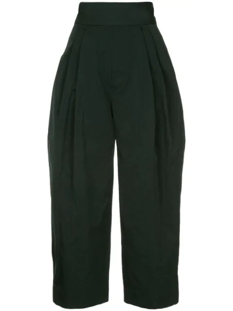 Marc Jacobs Cropped Trousers In Black
