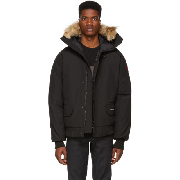 d3c81852cde Canada Goose Black Down Chilliwack Bomber Jacket | ModeSens