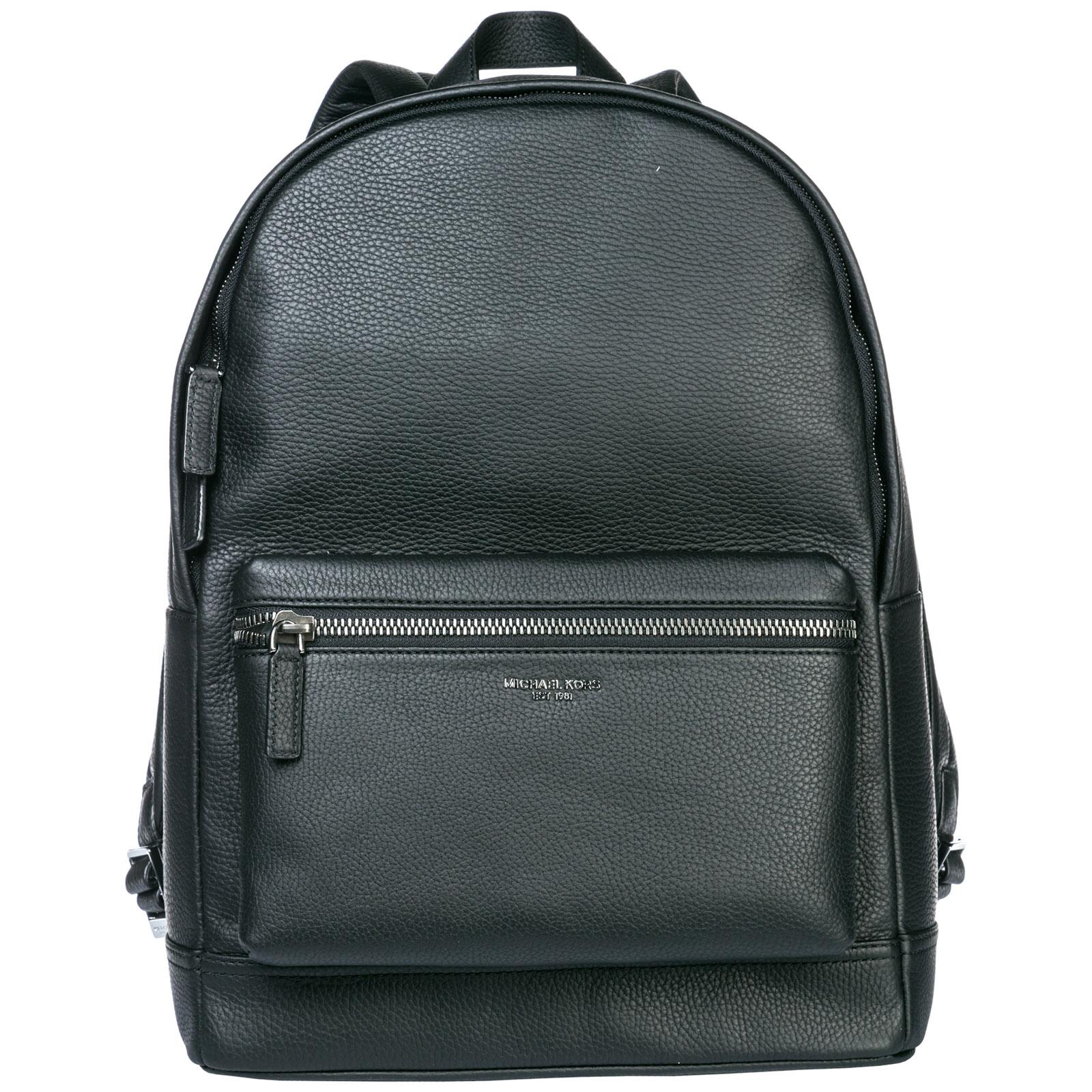 7b62ffe6cdd5 Michael Kors Men's Leather Rucksack Backpack Travel Bryant In Black ...