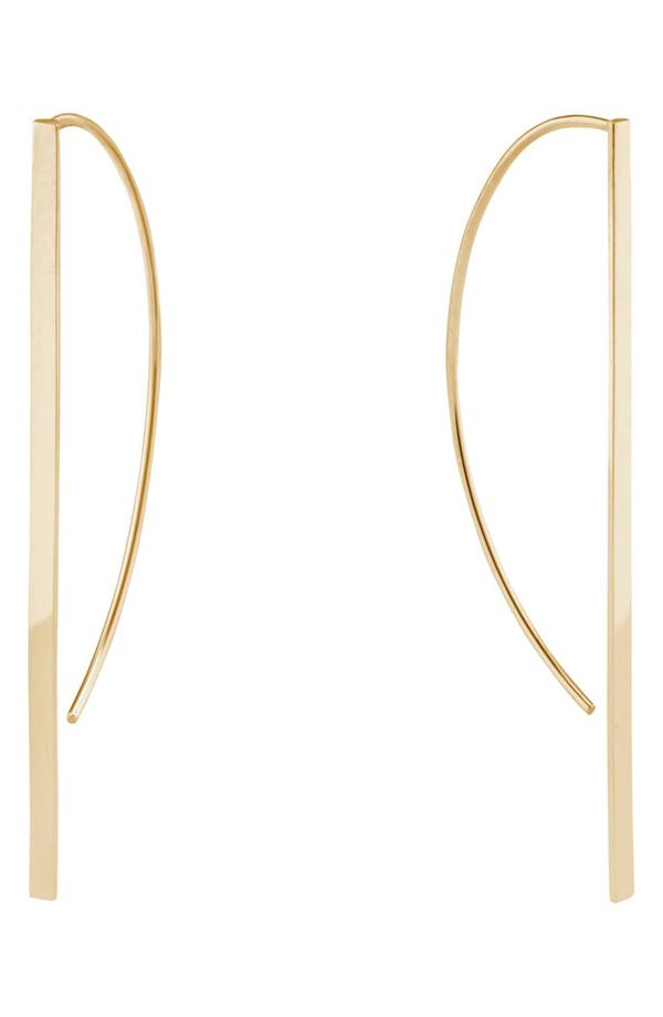 Lana Short P-hoop Earrings In Gold