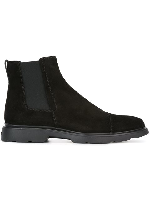 Hogan H304 Chelsea Ankle Boots In Black