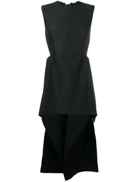 Yang Li Elongated Peplum Blouse In Black