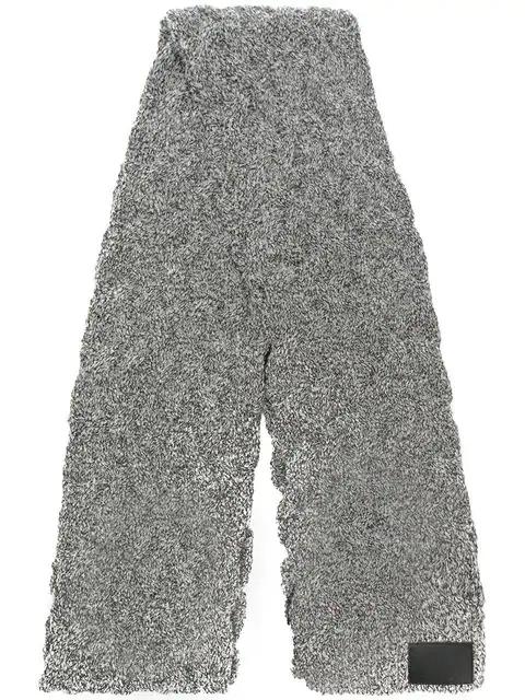 Yohji Yamamoto Braided Scarf In Grey