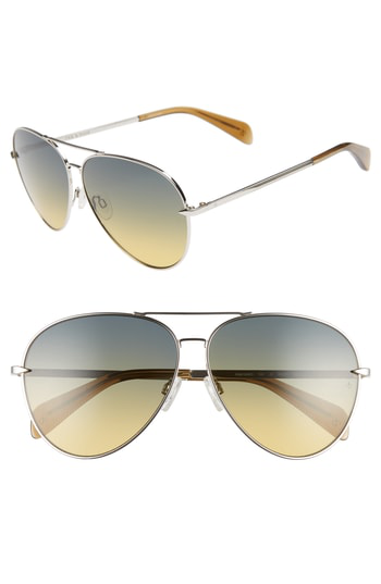 58ed07d71bd6 Rag   Bone 63Mm Oversize Aviator Sunglasses In Silver