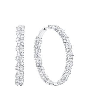 973332887 Crislu Celebration Hoop Earrings In Platinum-Plated Sterling Silver ...