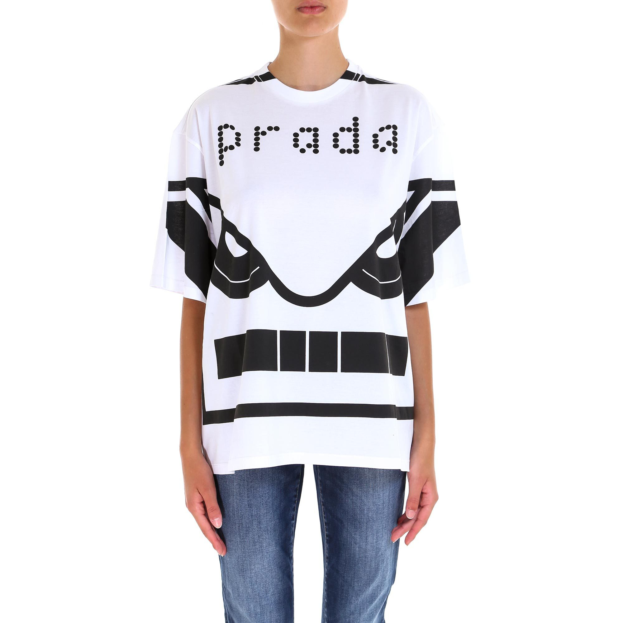 396a9659d574 Prada Robot Eyes T In White | ModeSens