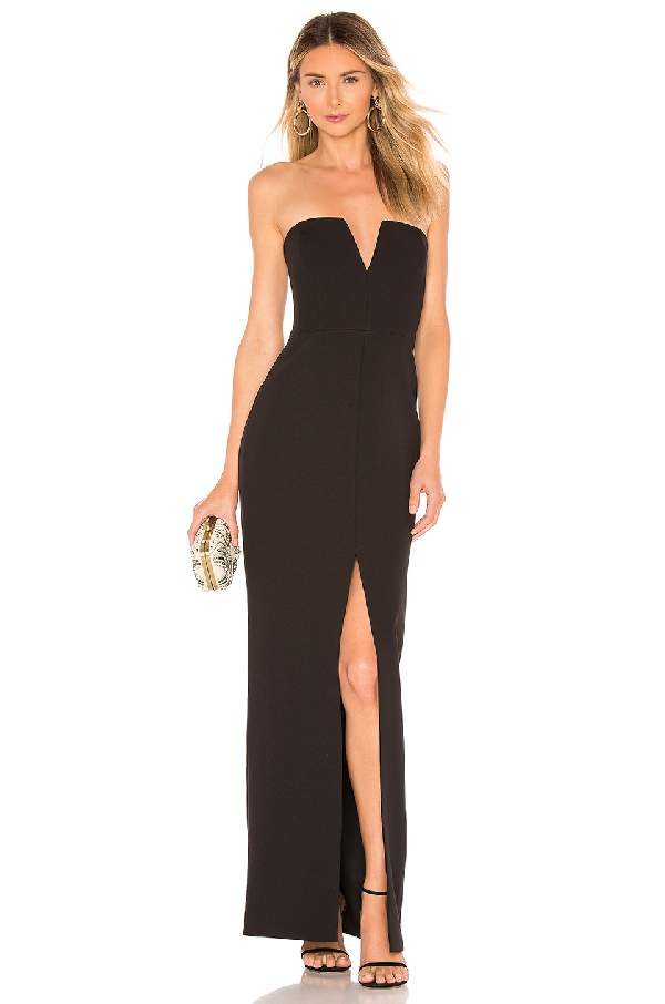 d675401d00c Bcbgmaxazria Double-Faced Crepe Notched Strapless Gown In Black ...