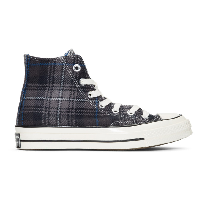 92121c6aa67a Converse Grey Plaid Chuck 70 High Sneakers | ModeSens