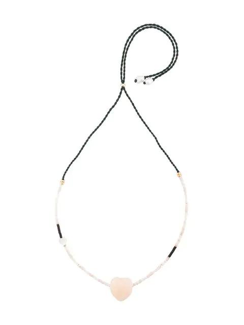 Lizzie Fortunato Pendant Necklace In White