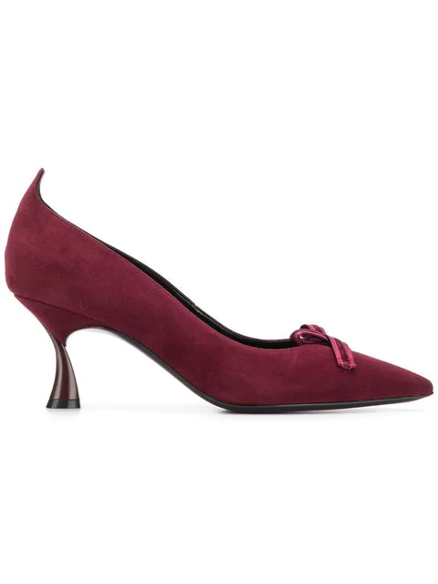 Casadei Pointed Toe Heels In Red