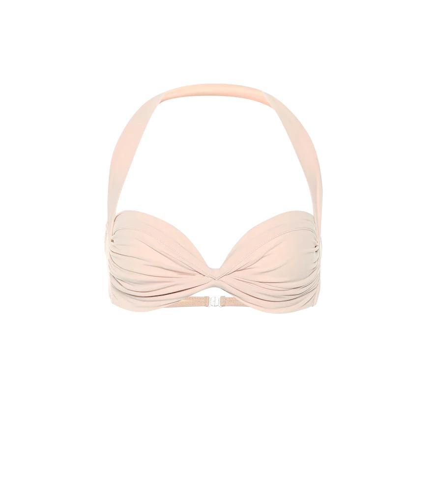 Norma Kamali Bill Bikini Top In Pink