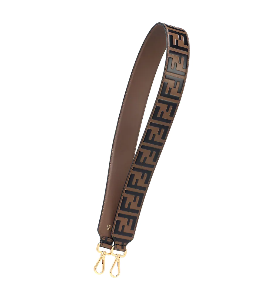 f8587519 Strap You Ff Embossed Calfskin Leather Guitar Bag Strap - Brown