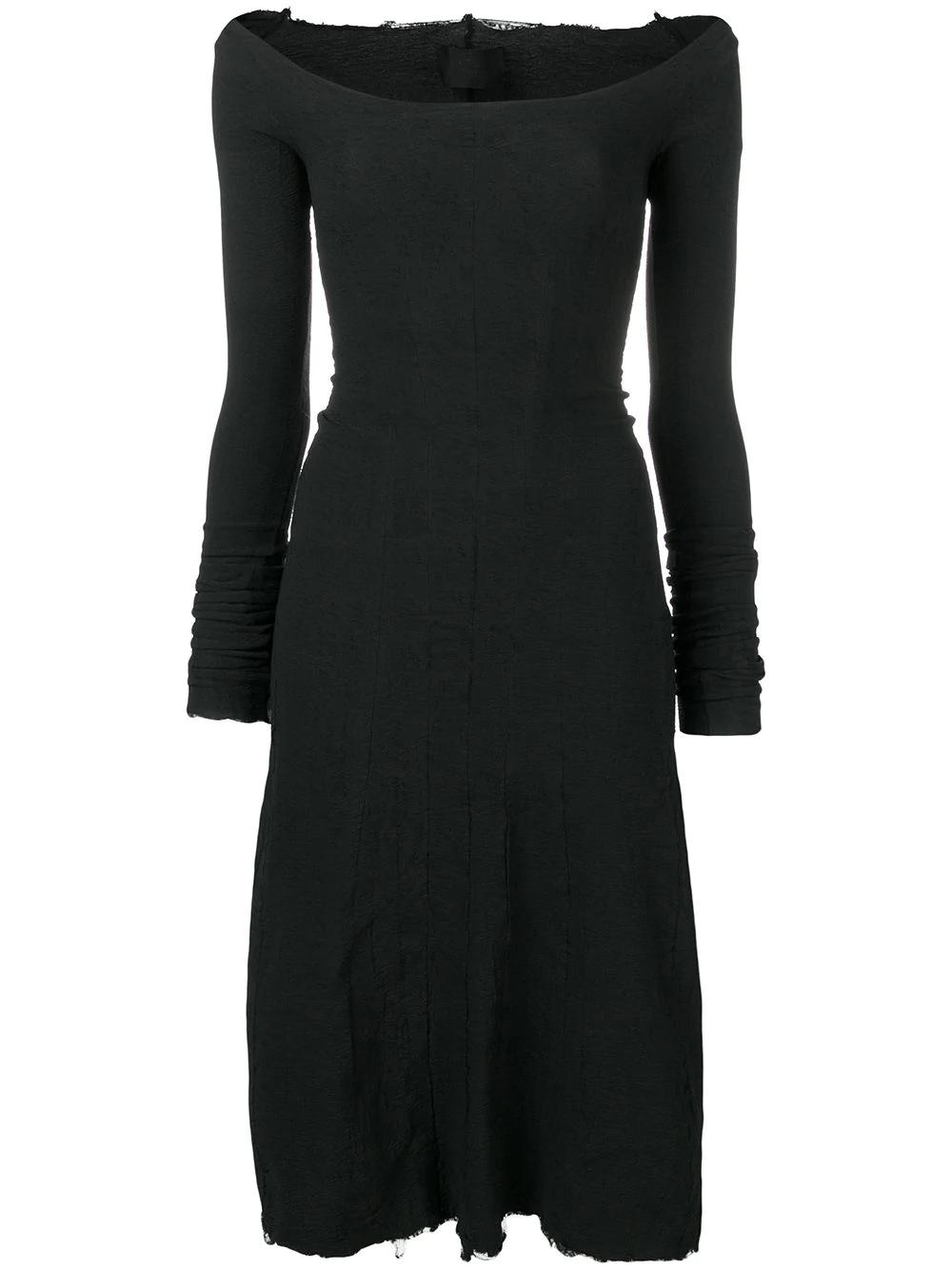 Marc Le Bihan Boat Neck Dress In Black