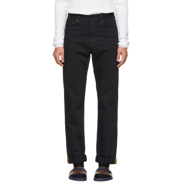 Fendi Mania Straight-Leg Jeans In Black