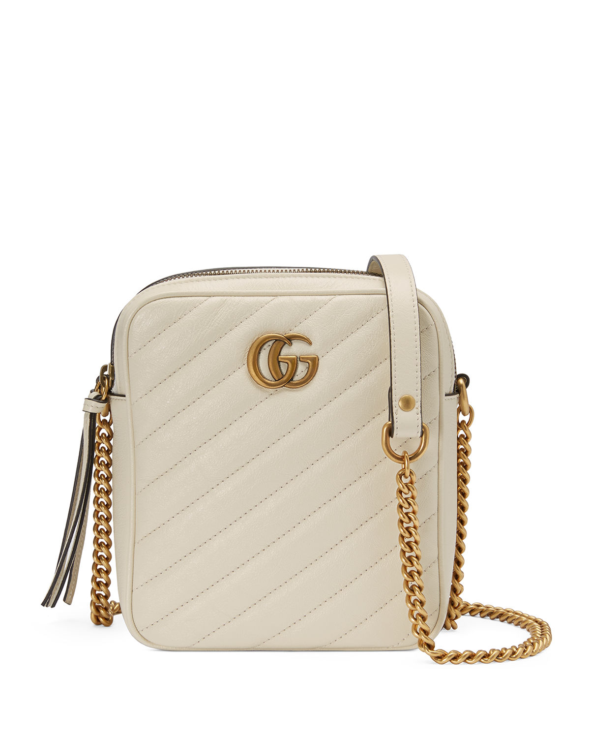 bfb8142aaee4 Gucci Gg Marmont Tall Chevron Leather Crossbody Bag