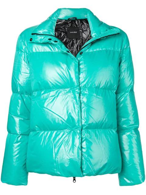 Duvetica Short Puffer Jacket In Green