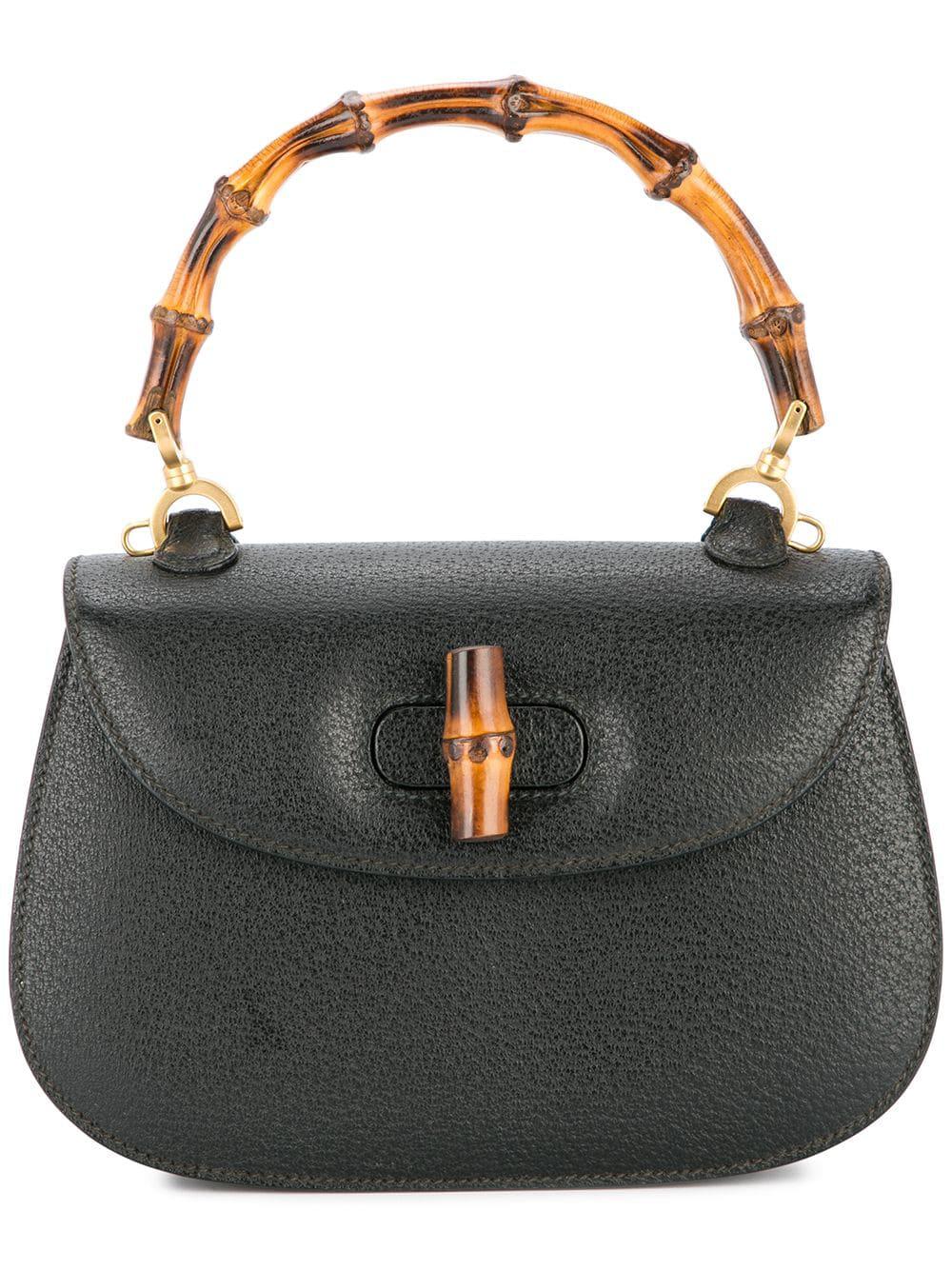 cb077886 Gucci Bamboo Mini Handbag In Black   ModeSens
