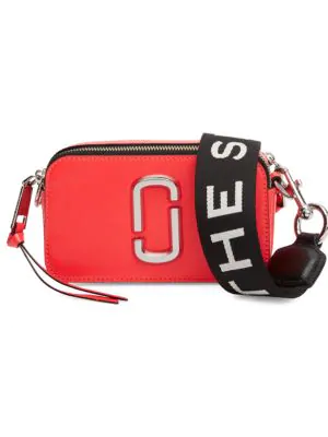 Marc Jacobs The Snapshot Fluoro Leather Camera Bag In Hot Pink