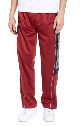 06cd48d6c3 Active 222 Banda Snap-Away Warm-Up Pants in Red Bordeaux Black
