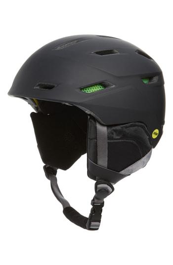 Smith Mission Mips Snow Helmet - Black In Matte Black  32383a569f5
