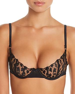 df65f74fb5cc Heidi Klum Intimates Leopard Sunset Lace Underwire Bra In Black ...