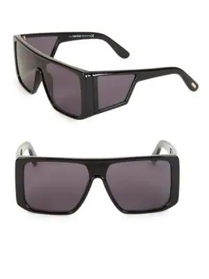 091c94a481a Tom Ford Atticus Geometric Shield Sunglasses In Black