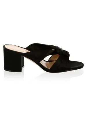 Gianvito Rossi Twisted Satin 60Mm Sandals In Black