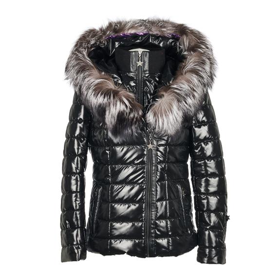 104b9b99f50c Popski London Aspen Metallic Jacket - Black | ModeSens