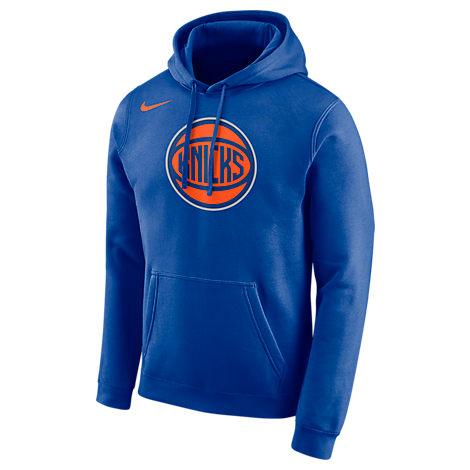 buy online f2d4c 47ef5 Men's New York Knicks Nba City Edition Logo Essential Hoodie, Blue - Size  Med