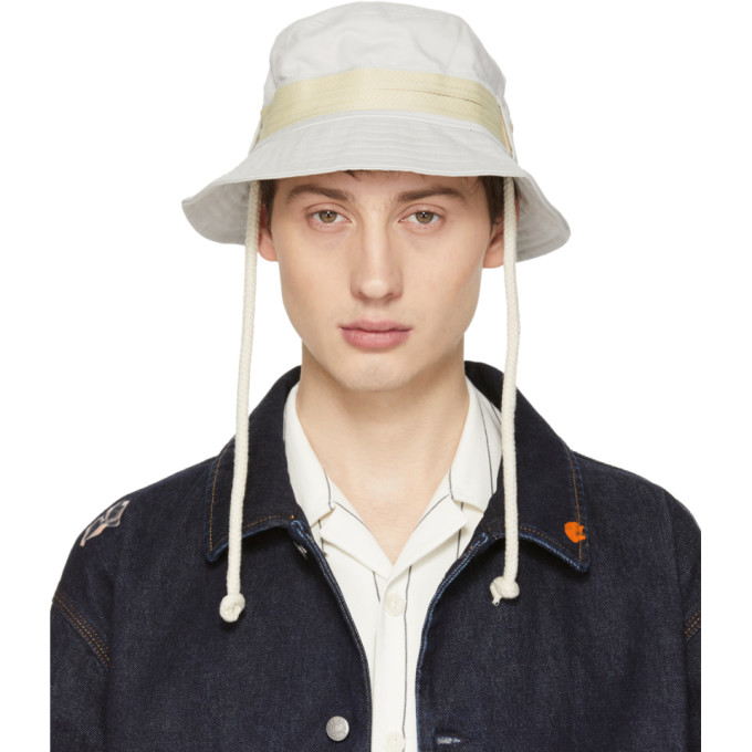 aba1a6a6348 Acne Studios Off-White Bla Konst Sun M Sat Bucket Hat In Putty White ...