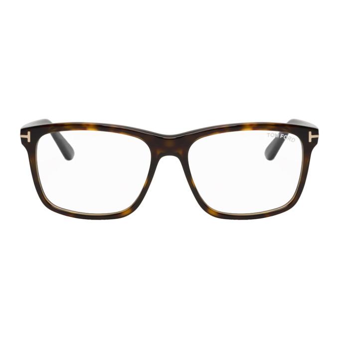 f177e70c65 Tom Ford Tortoiseshell Block Square Glasses In 052Darkhav
