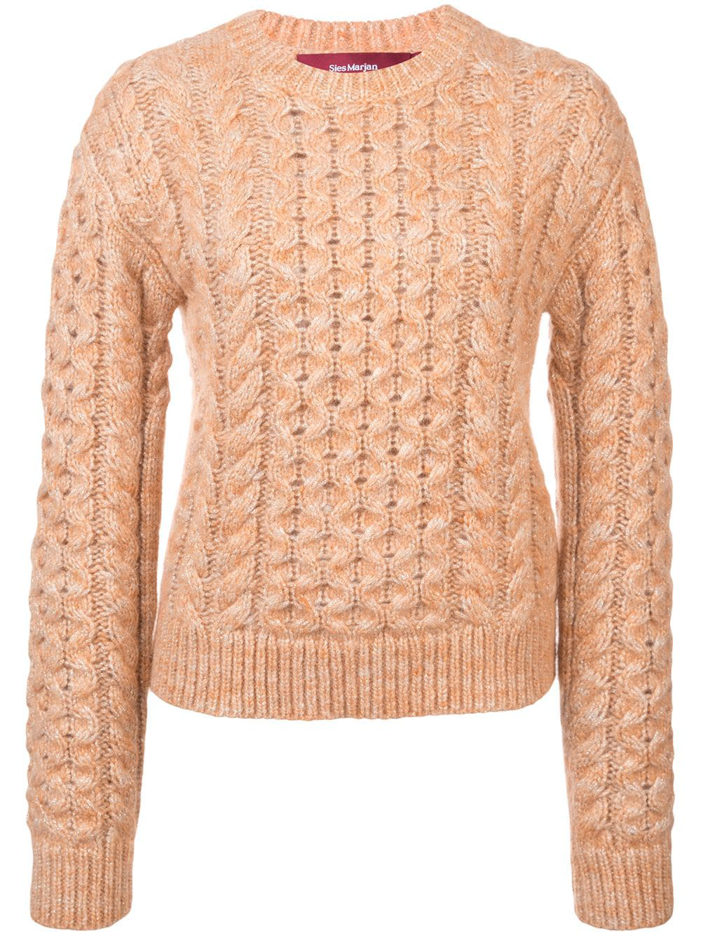 e3138074be6 Sies Marjan Cable Knit Sweater - Pink | ModeSens