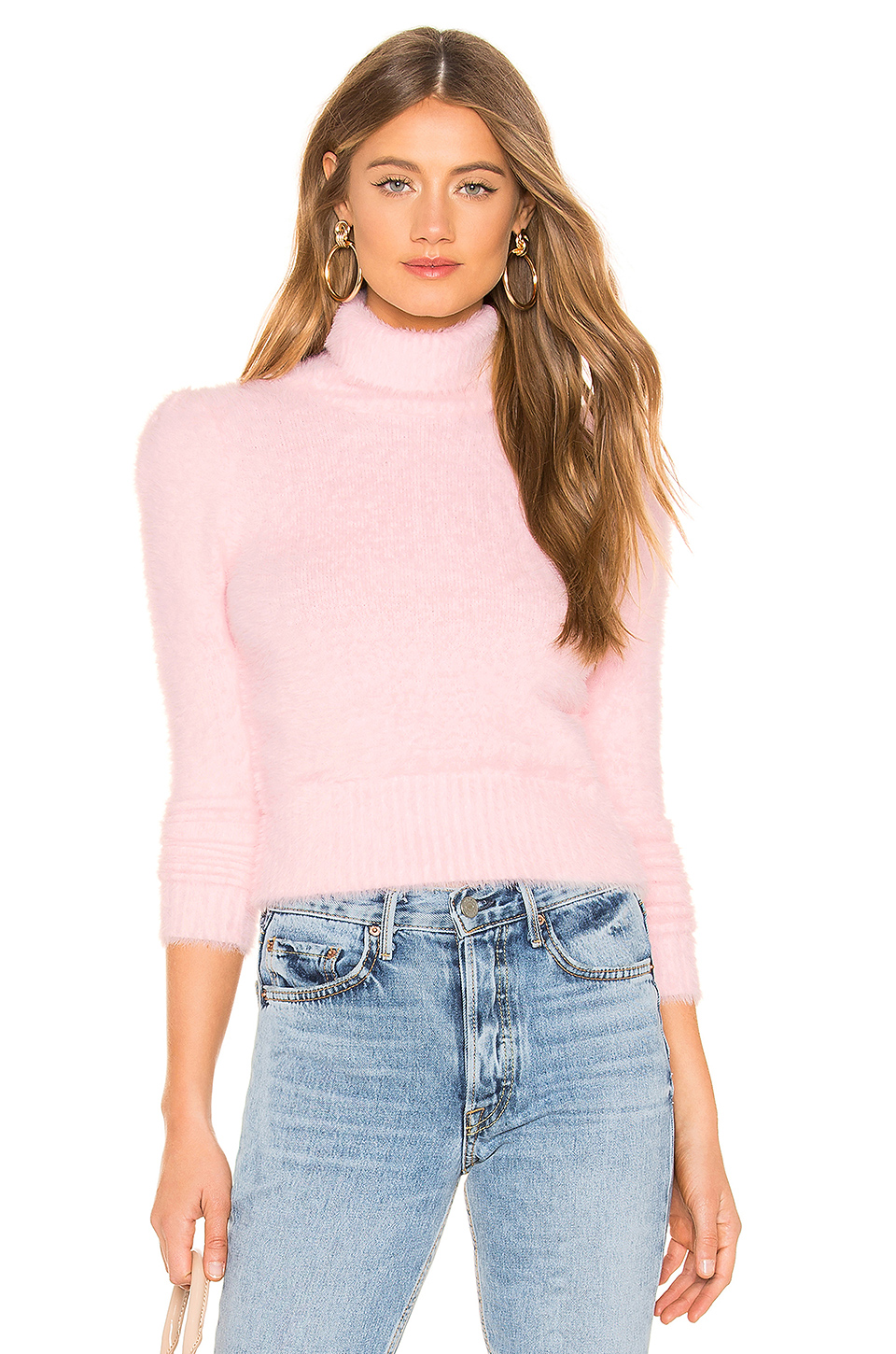 Majorelle Reed Sweater In Pink. In Light Pink