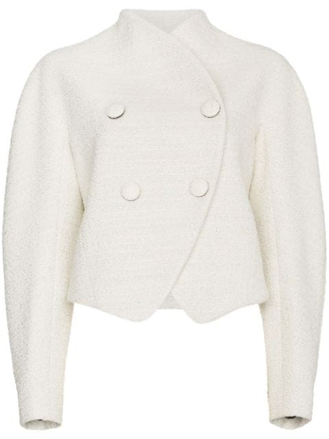 Proenza Schouler Re-edition Double Breasted Jacket In White