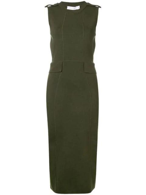 Victoria Beckham Fitted Knit Dress - Green
