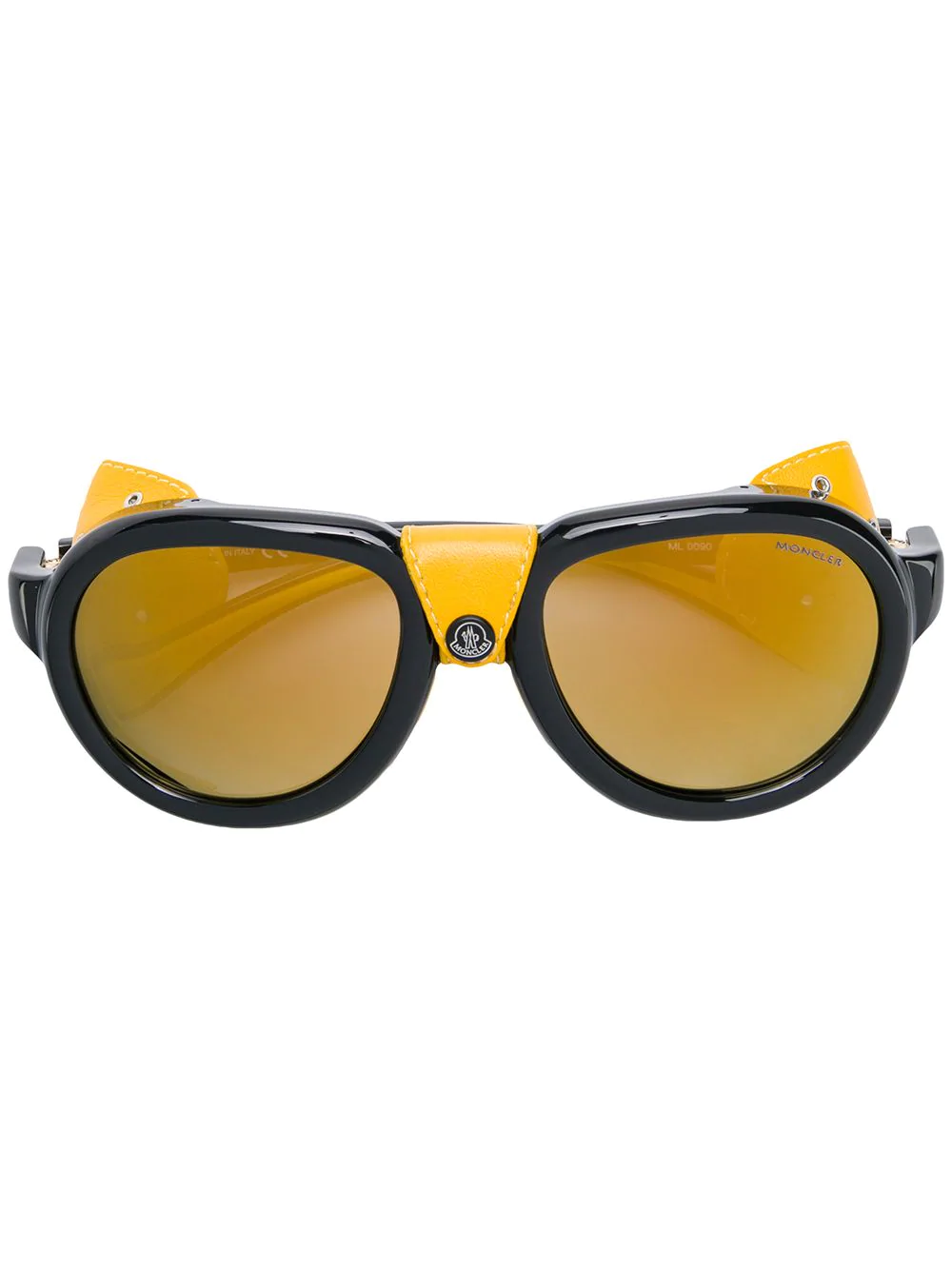 Moncler Mirrored Lunettes In Black