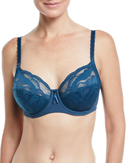 5580758f9c Wacoal Top Tier Full-Figure Underwire Bra In Majolica Blue