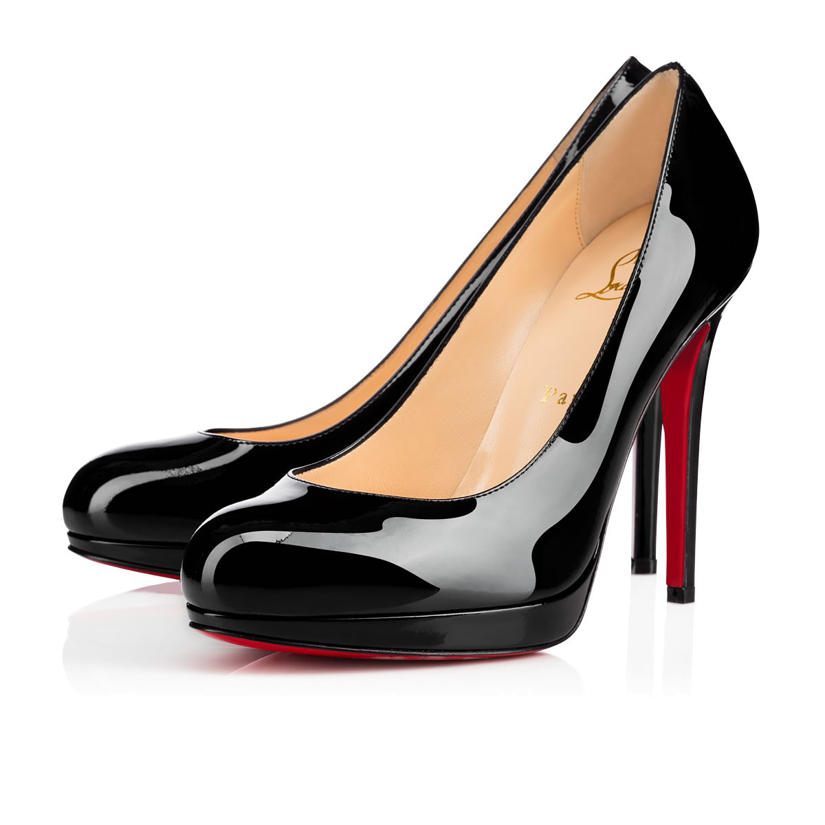 530b4d5a10 Christian Louboutin Dirditta Patent Platform Red Sole Pump In Black ...