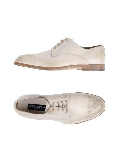 Dolce & Gabbana Laced Shoes In Ivory