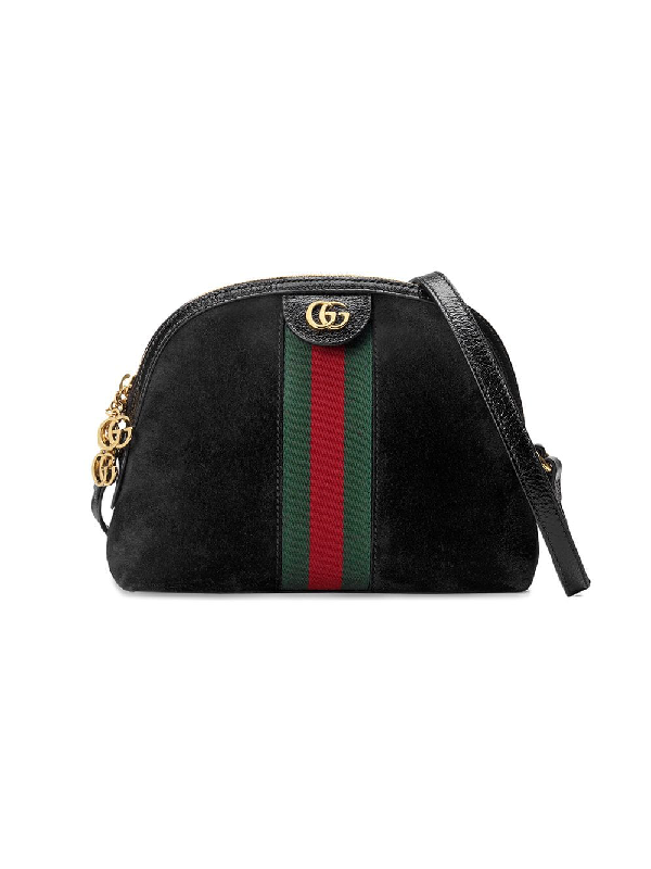 7b50b1814d47 Gucci Small Ophidia Suede Shoulder Bag In Black   ModeSens