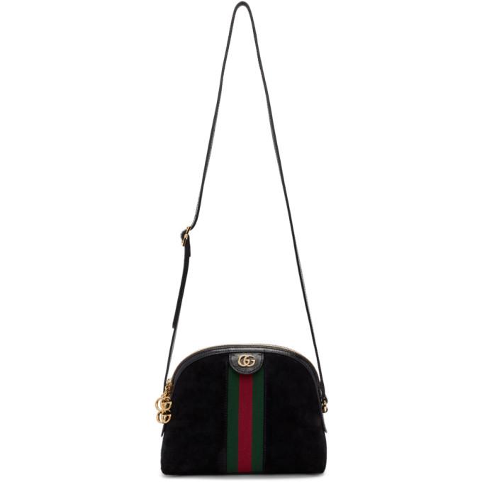 00cde45df31e Gucci Black Suede Small Ophidia Bag In 1060 Black | ModeSens