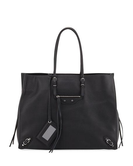 Balenciaga Papier A4 Zip Around Leather Tote - Black In 1000 Noir