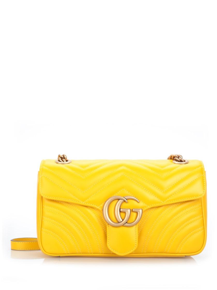 965abb7f6b1a Gucci Gg Marmont Mini MatelassÉ Leather Shoulder Bag In Stoee Topaz ...
